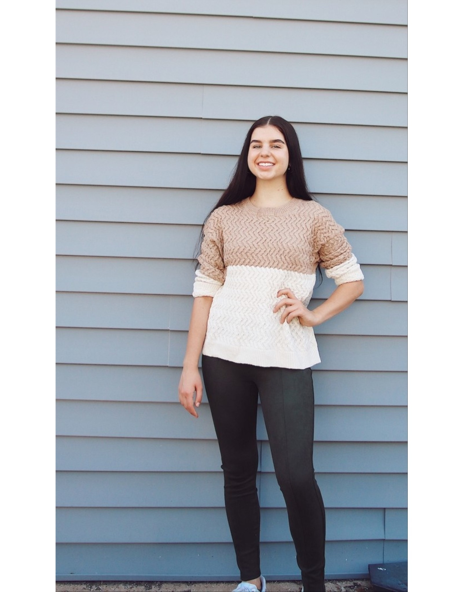 TOWNES COLOR BLOCK SWEATER