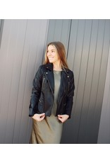 MERCY QUILTED FAUX LEATHER JACKET