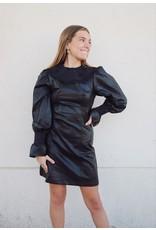 GAGENA FAUX LEATHER DRESS
