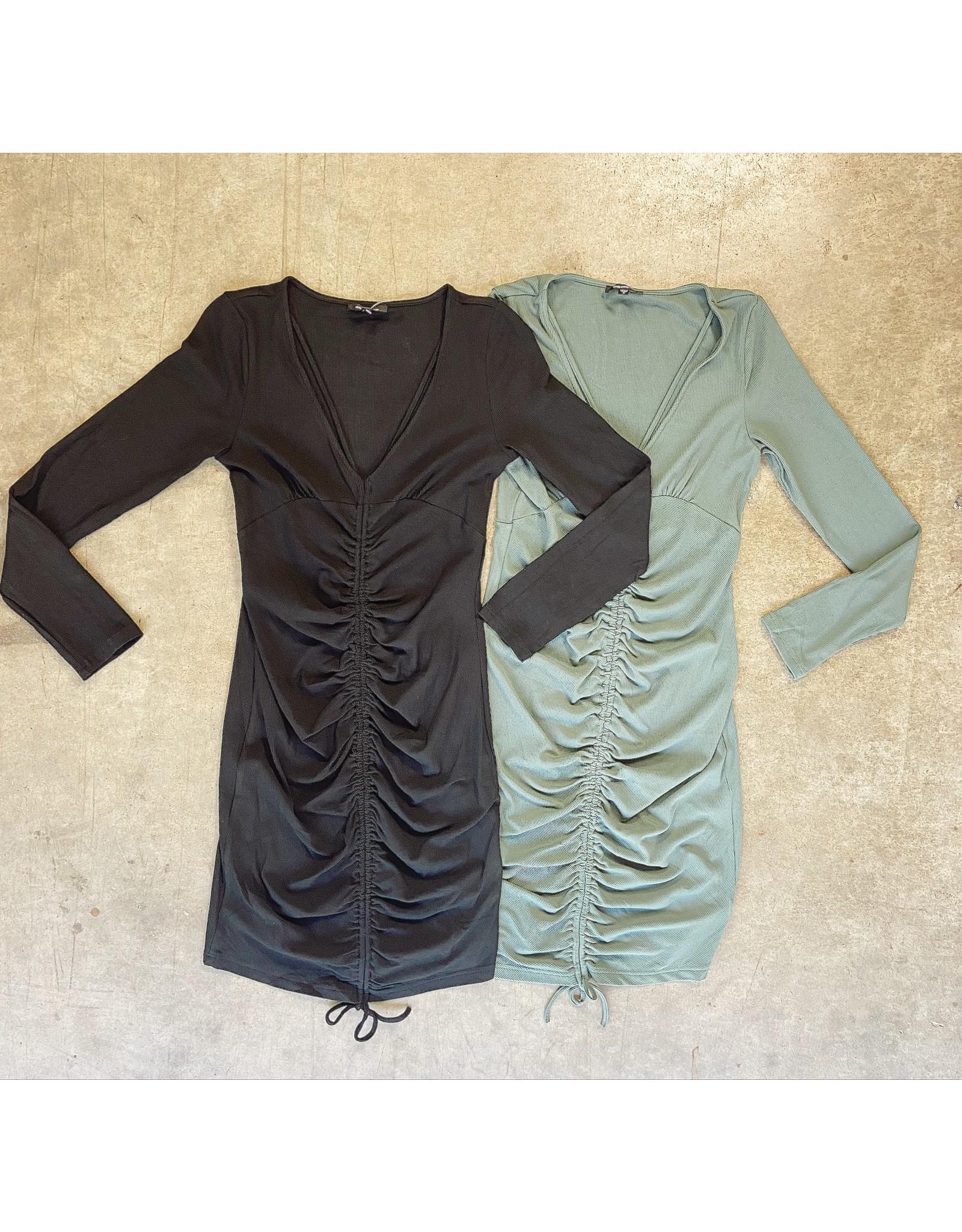 HANK FRONT RUCHING DRESS