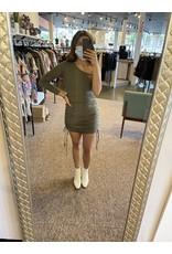 PALTI RIBBED ONE SHOULDER DRESS