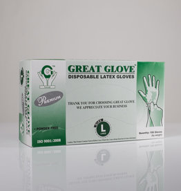 Great Glove Latex Gloves - Large - Box