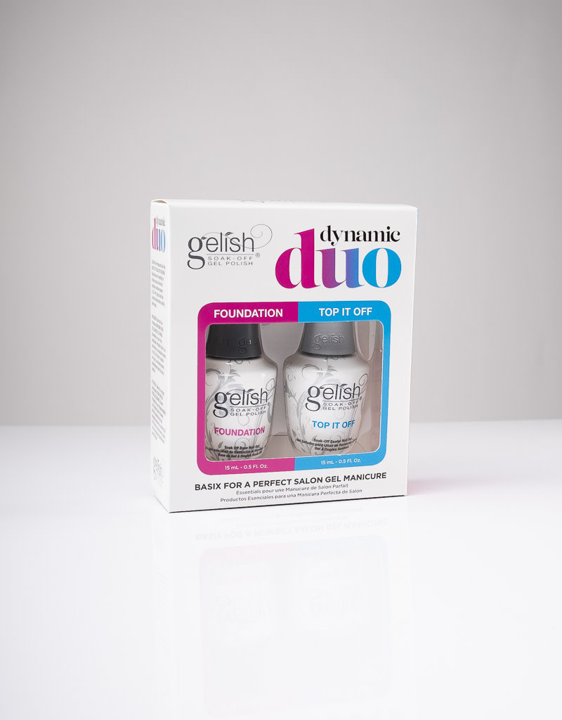 Gelish Gelish - Dynamic Duo - Foundation & Top it off - 0.5oz