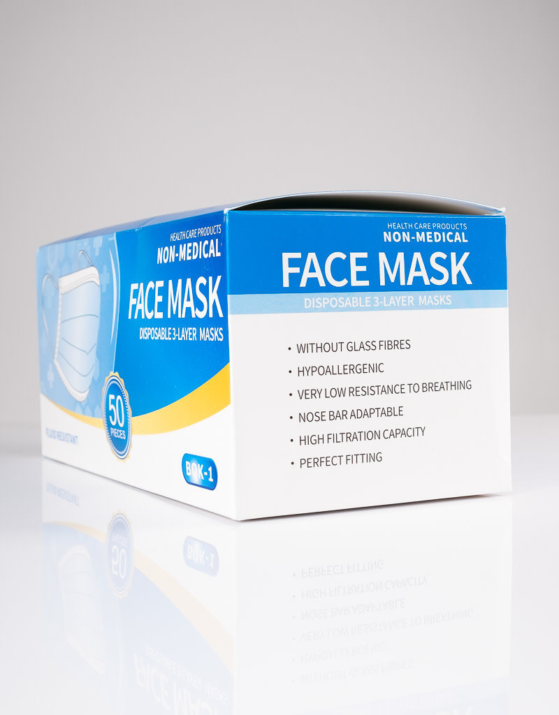 ABS ABS Face Mask - 3 Layer - 50pc