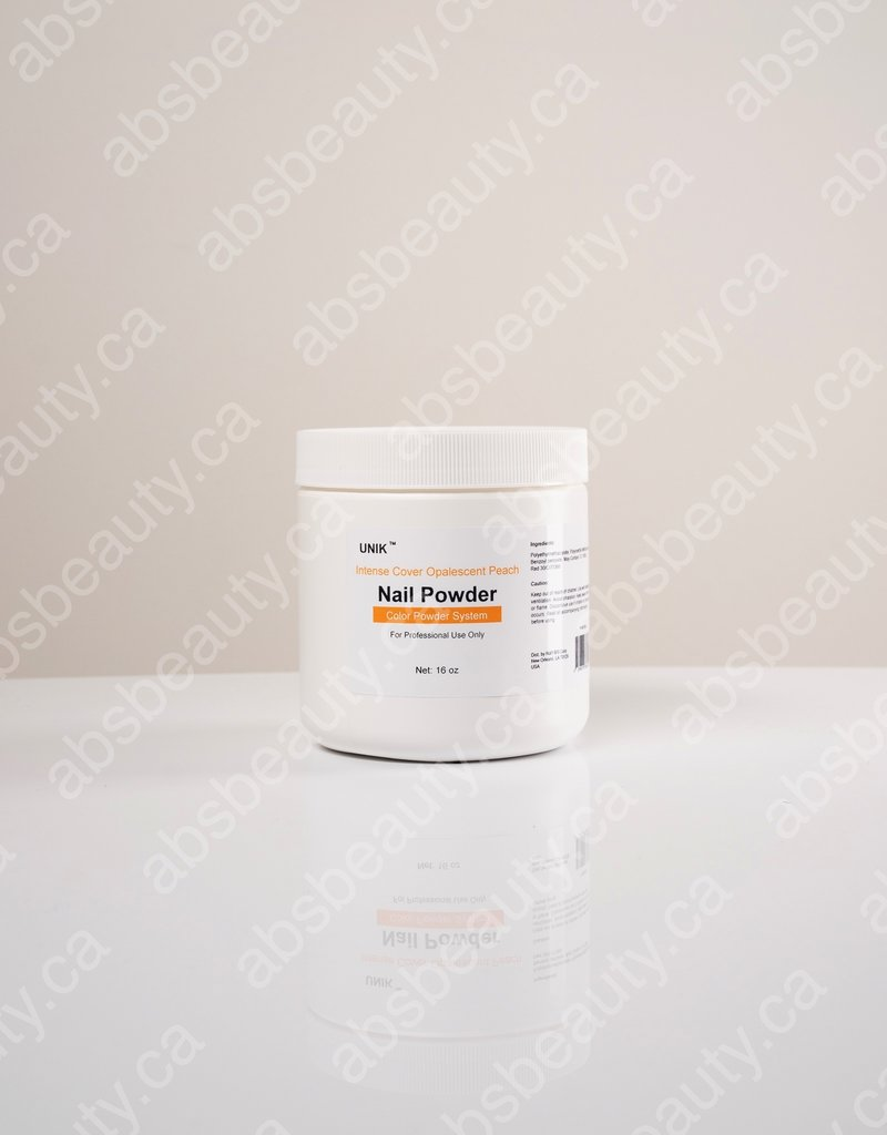 Unik Unik Nail Powder - Intense Cover Opalescent  Peach - 16oz