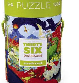 Crocodile Creek 100 pc 36 Animal Puzzle/Dinos