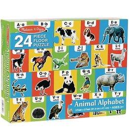 Melissa & Doug Animal Alphabet Floor Puzzle 24 pc
