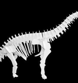 Boneyard Pets Elvis the Brachiosaurus 3D Puzzle White