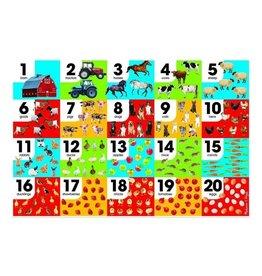 Melissa & Doug 24 pc Farm Number Floor Puzzle