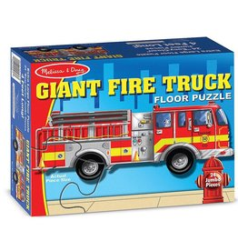 Melissa & Doug 24 pc  Giant Fire Truck Floor