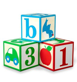 Melissa & Doug Jumbo ABC-123 Blocks - Classic