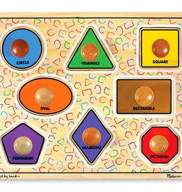 Melissa & Doug Jumbo Knob Puzzle Shapes