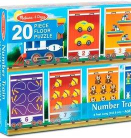 Melissa & Doug Number Train Floor Puzzle 20 pc