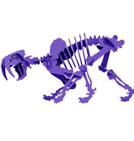 Boneyard Pets Pinga the Smilodon 3D Puzzle Purple