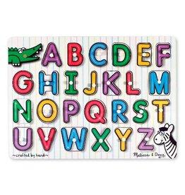 Melissa & Doug Lift and See Peg Puzzle Alphabet