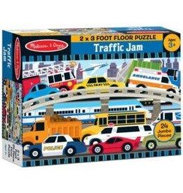 Melissa & Doug 24 pc Traffic Jam Floor Puzzle 2'x3'