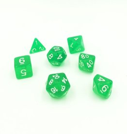 Koplow Games Polyhedral Dice 7 Piece Set Green