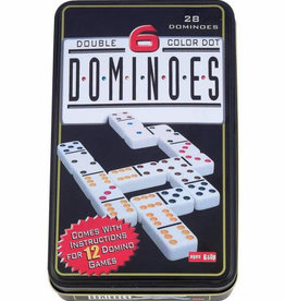 John Hansen Double 6 Dominoes in Tin