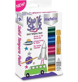 Kwik Stix Kwik Stix Solid Tempura Paint 6 Metallic Colors