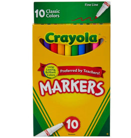 Crayola Crayola 10 ct. Classic, Fine Line Markers