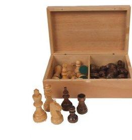 "John Hansen 3"" Wooden Chess Pieces in Wood Box"