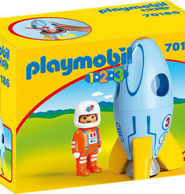 Playmobil 123 Astronaut with Rocket