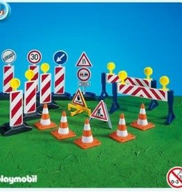 Playmobil Construction Site Signs 7280