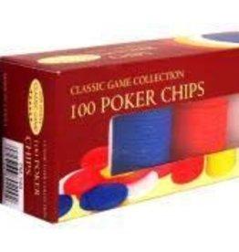 John Hansen Poker Chips -100 plastic chips