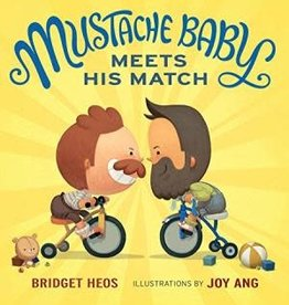 HMH Books Mustache Baby Meets His Match by Bridget Heos