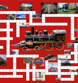 SunsOut 500pc Riding the Rails: 2 Classic Puzzles in 1