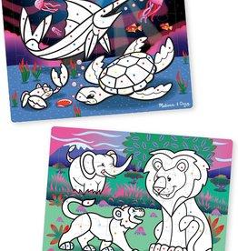 Melissa & Doug 24 pc each 3-D Puzzle Safari and Ocean