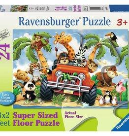 Ravensburger 4-Wheeling Floor Puzzle 24 pc