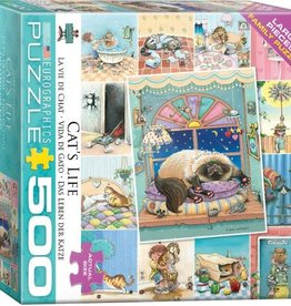 EuroGraphics 500 pc Cat's Life by Gary Patterson