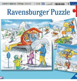 Ravensburger 49 pc each Let's Go Skiing! (3 puzzles)
