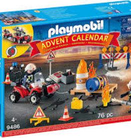 Playmobil Advent Calendar - Construction Site Fire Rescue