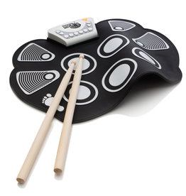 Mukikim Flexible Roll Up Drum - Black & White