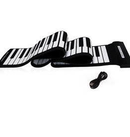 Mukikim Flexible Roll-up Piano Black and White