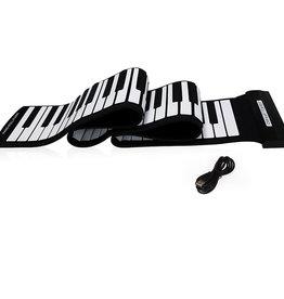 Mukikim Flexible Roll Up Piano - Black & White