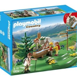 Playmobil Backpacker Family at Mountain Spring 5424