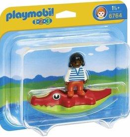 Playmobil 123 Child with Crocodile Raft 6764