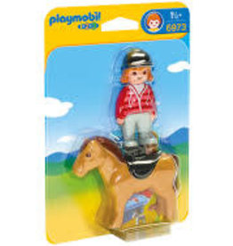Playmobil 123 Equestrian with Horse 6973