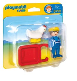 Playmobil 123 Farmer with Wheelbarrow 6793