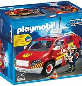 Playmobil Fire Chief's Car with Lights and Sound 5364