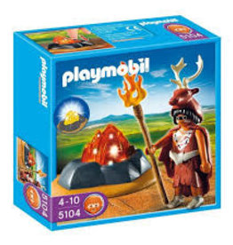 Playmobil Fire Guardian with LED Fire 5104