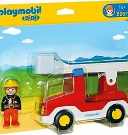 Playmobil 123 Ladder Truck WIth Fireman 6967