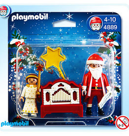 Playmobil Little Angel and Santa Claus with hand organ