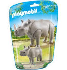 Playmobil Rhino w/Baby 6638
