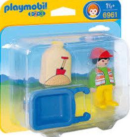Playmobil 123 Worker with Wheelbarrow 6961