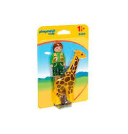 Playmobil 123 Zookeeper with Giraffe 9380