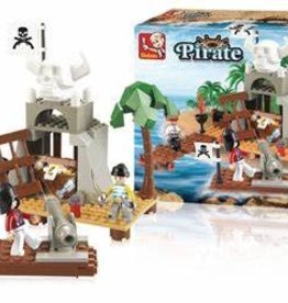 Sluban Pirate Treasure Cove (142 pieces)
